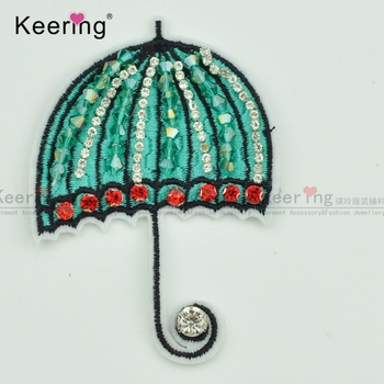 umbrella Shape Latest wholesale bead embroidery designs with stones