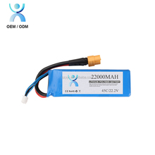 High Quality China Wholesale 22000mah 22.2v rc Helicopter Lipo 6s Battery Pack
