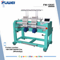FUWEI high quality computerized 2 heads rack embroidery machine with 12 needles of bid sale
