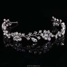 Handmade Bridal <strong>Hair</strong> <strong>Accessories</strong> New Tiara Head Piece crystal head piece Women Girls rhinestone pageant tiaras and crowns HA-290