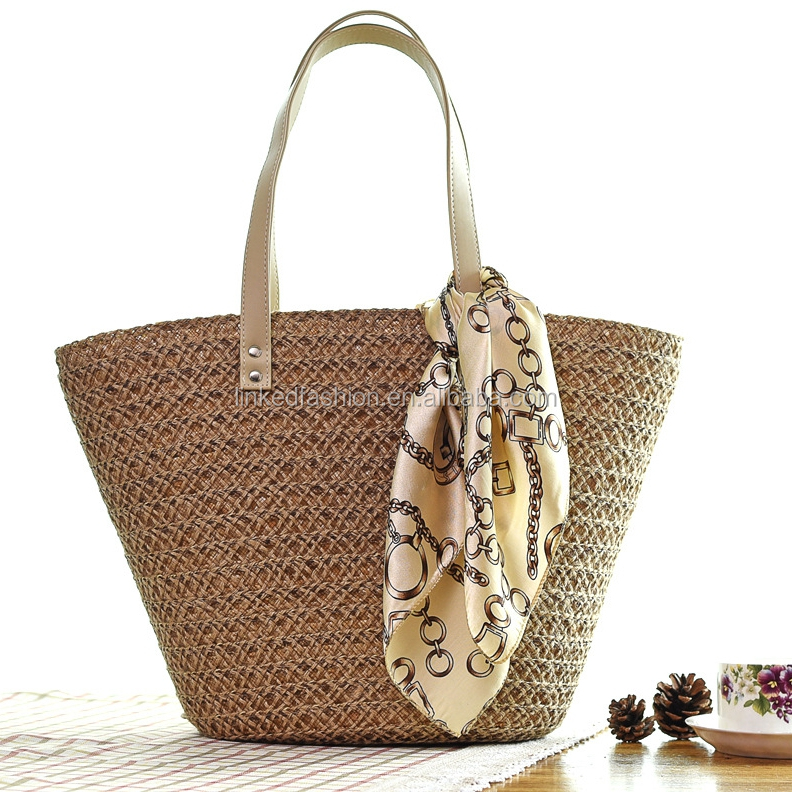 Natural Thai Craft Handbag Straw Shopping Bag Hotel Beach Bag Shoulder Bag 100% Natural Product