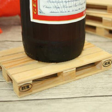 Pallet Wood Beverage Coasters Drink Wine Glasses Beer Bottle Glass Tea Cup Mat Table Pad