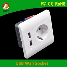 Hot new style euro rj45 adapter socket wall mounted USB outlet with CE ROHS FCC