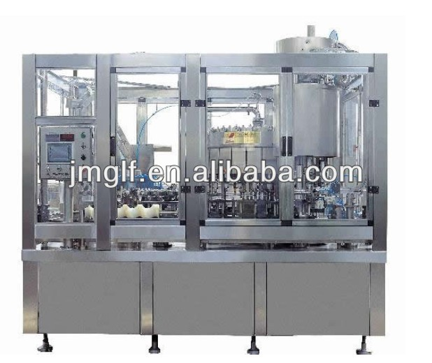 High Production Capacity Automatic 3 in 1 Unit Alcohol Drink Filling Line