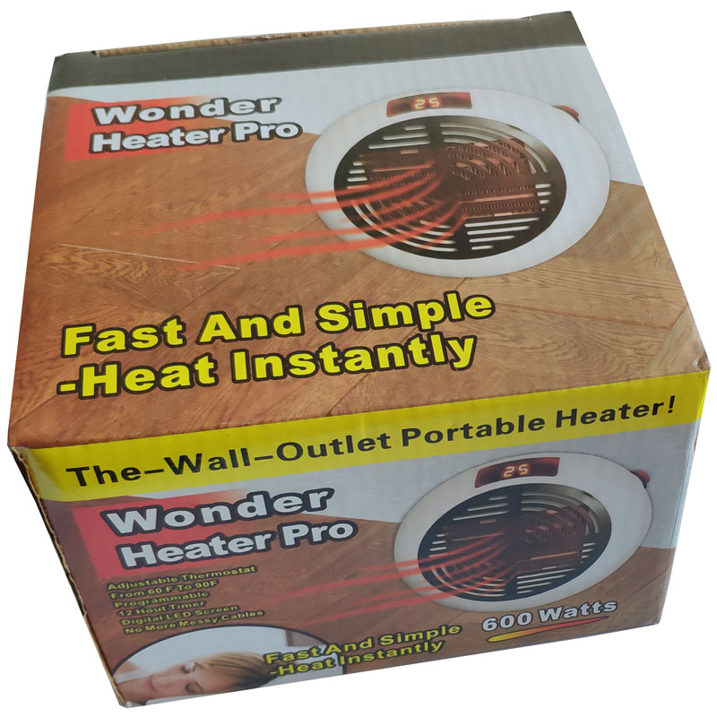 wonder pro fast simple instantly Speed  heating wire portable 400W wall-Outlet space wonder home heatting handy mini heater