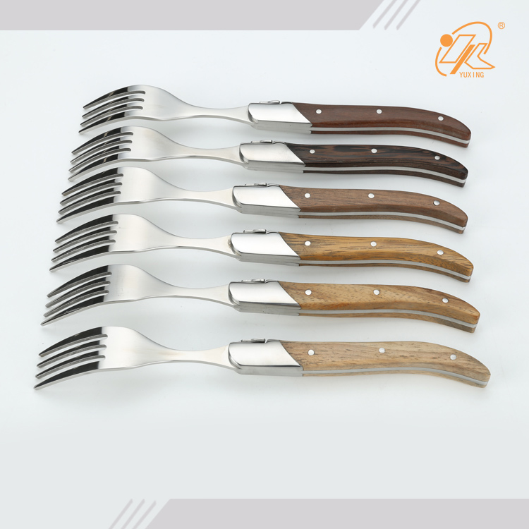 Dishwasher safe Laguiole 6 dinner forks set