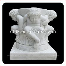 White Decorative Marble Angel Planter