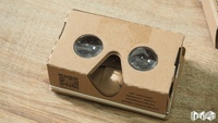 2016 new adjustable google cardboard case,cardboard box,cardboard display with all android and IOS phone.