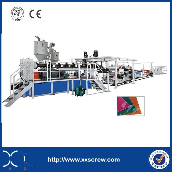 High Capacity Single Screw Design PET Foam Sheet Extruder