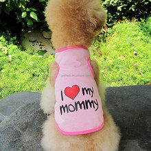 New Pink Cute Pet Dog Clothes Puppy Love Heart Printing Vest Clothes xxxs dog clothes