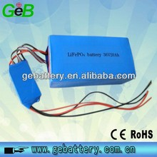Customized LiFePO4 36V 20Ah battery pack li-ion 18650 rechargeable E-bike/E-scooter battery