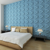 Modern hotel decorative wall board 3d wood carving pvc wall panel