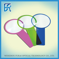 Hottest plastic card handle fresnel magnifier with PVC sheet