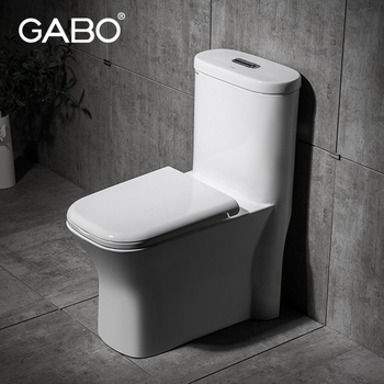Square One Piece Ceramic Toilets for Shop