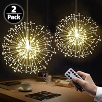 Hanging starburst fairly light firework light Christmas Lights Room Garden Decoration led dandelion chandelier