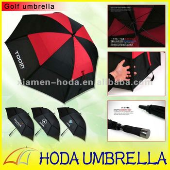 Promotional Double Layer Windproof Golf Umbrella