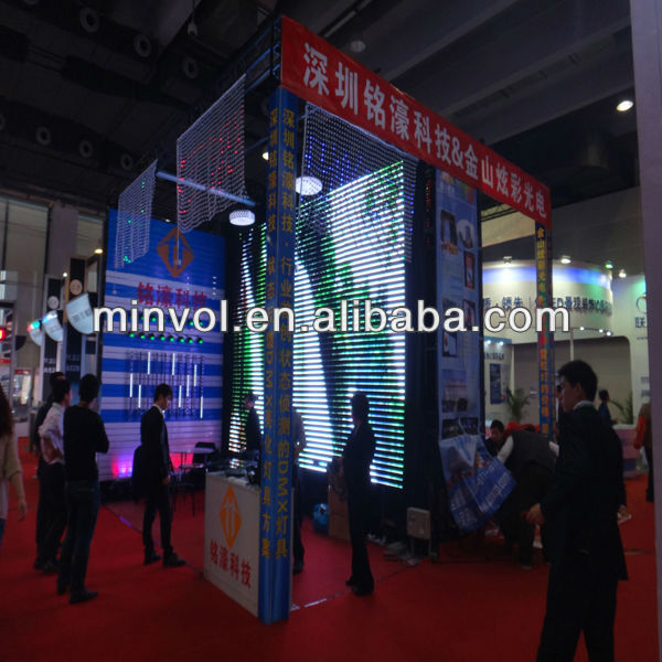 P31.25x93.5mm 2014 global market hot selling led Media facade screen in Russian