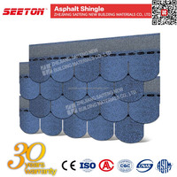 Cheap Round Roofing Materials , Colorful Asphalt Shingles Roof Coating