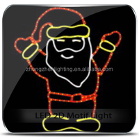 CE approved Father Christmas Santa Claus Kriss Kringle Motif Light