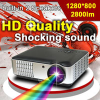 China new cheap home theater full HD 3D LED multimedia video digital projector proyector beamer