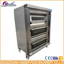 Hot sale bakery equipment deck oven industrial gas deck oven insulation 3 deck 9 trays