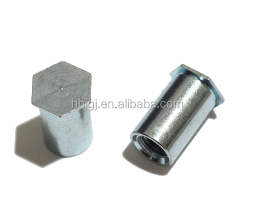 Self clinching screw fasteners for sheet metal self clinching hexagon threaded standoff for sheet metal