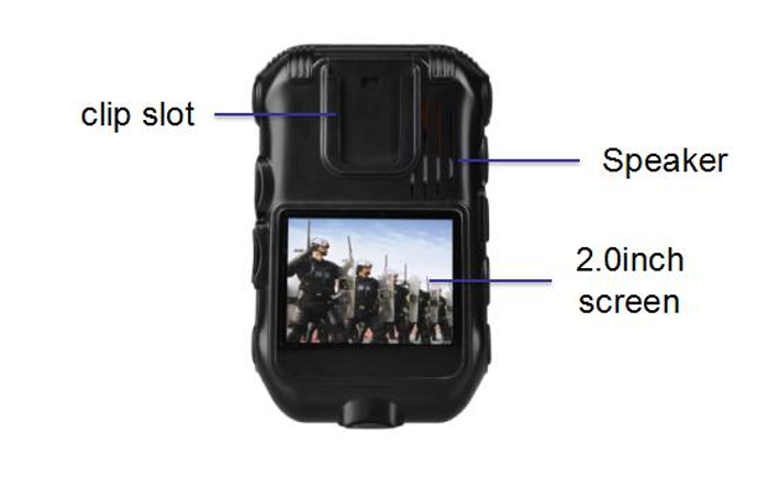 2.0 inch full HD1080P waterproof portable police camera police body wearable camera recorder ZP605G support Wifi/3G/4G/GPS/GPRS