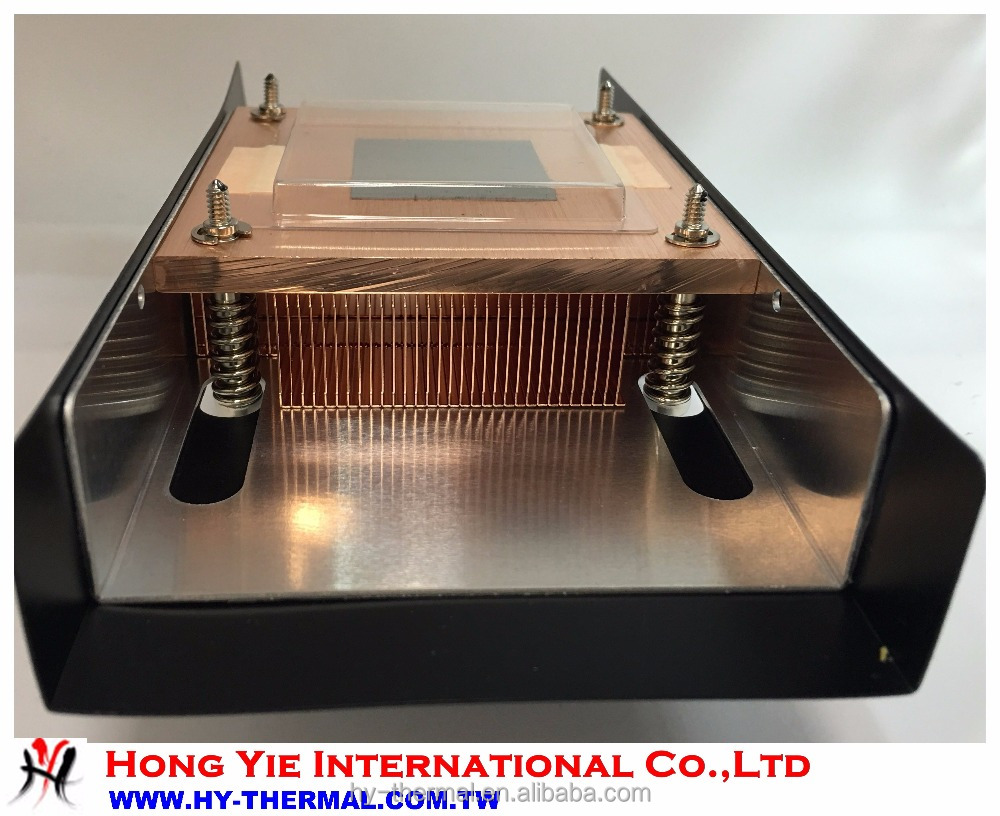 Professional 1U profile copper heat sink hy537 system cooling