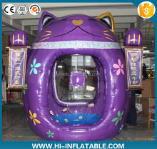 Customized promotional inflatable fortune cat cash booth inflatable fortune cat