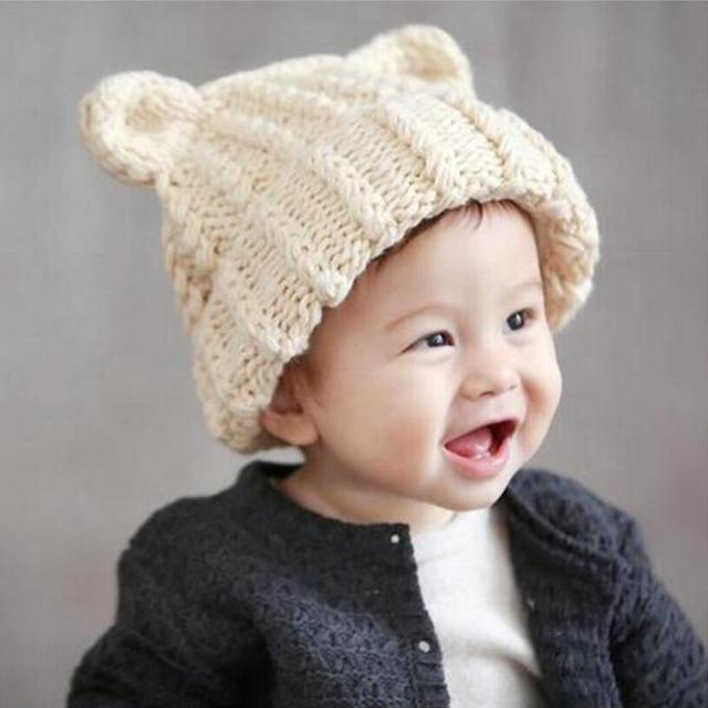 Korean jones costume cute animal shaped knitted doll baby hats