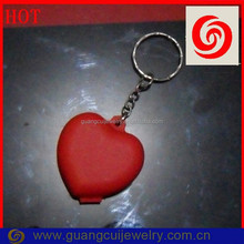 Welcome custom ODM/OEM heart keychain container with your logo