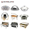 Professional Stainless Steel Hotel Chafing Dish Catering Material Steel Buffet Set Equipment Food Warmers For Sale In Guangzhou