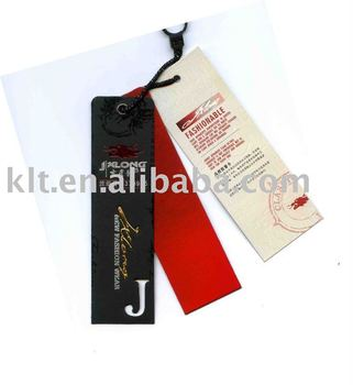 Customed garment paper hangtag