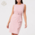 OEM Cheap Price O Neck Sleeveless High Waist Slim Fit Pencil Midi Dress With Adjustable Belt