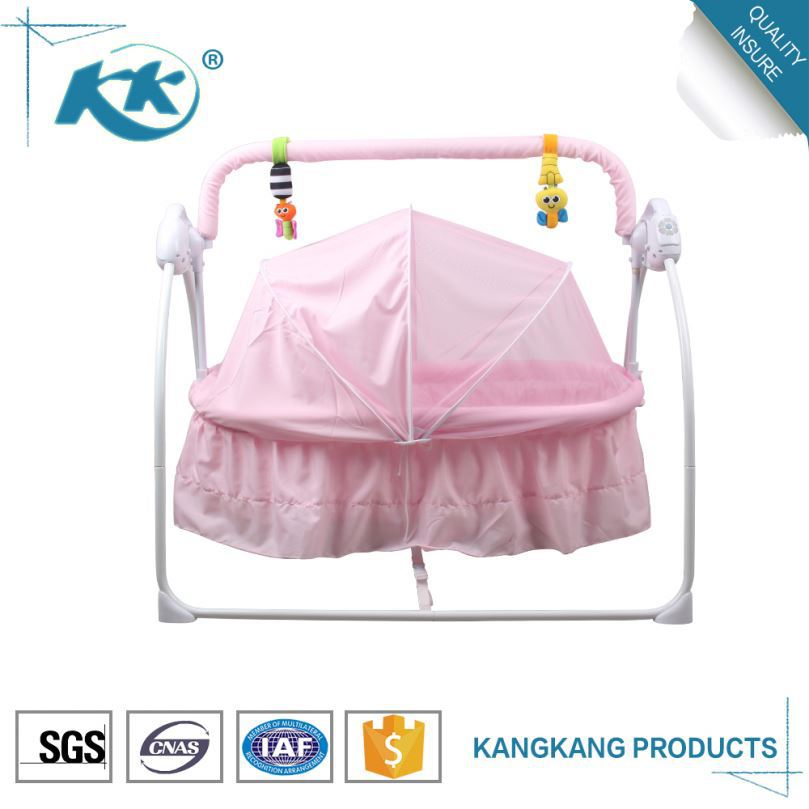 Reliable supplier competitive price portable swing cot new born baby electric swing bed
