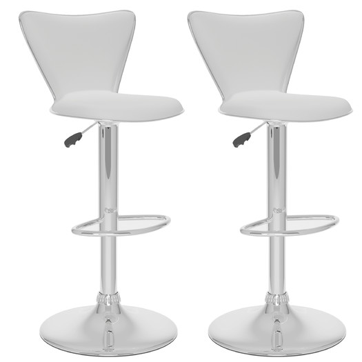 Kitchen dining chair white leather bar stools
