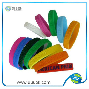 Custom silicone wristband no minimum