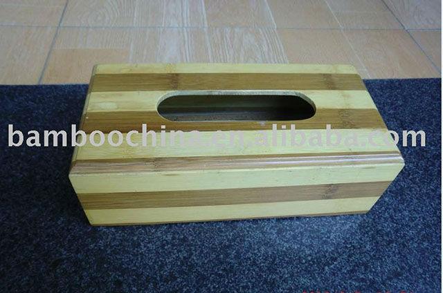 Bamboo tissue box (rectangle)