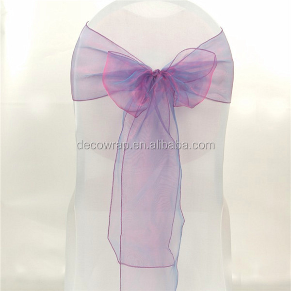 Top Quality Organza Wedding Chair Sashes For Sale