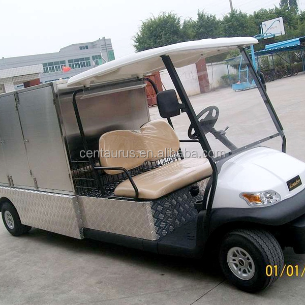 Stainless steel 3 wheels electric food cart with Customization