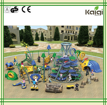 Kaiqi Kids Park Amusement Outdoor Games made of galvanized pipe KQ50100A