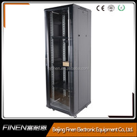 Floor standing network rack 22u server case with cooling fans