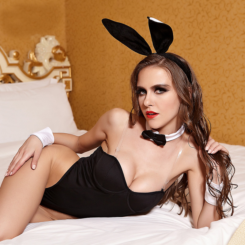 Sexy Mesh Babydoll Erotic Beautiful Bunny Hot Sex Girl Photo Lingerie