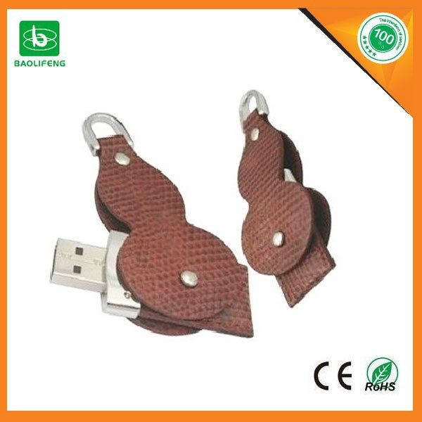 Customized gift logo leather usb stick PU leather usb flash drive