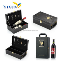 Custom order PU leather 750ml bottle wine box,wine bottle case