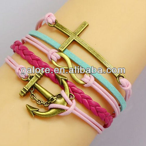 latest design infinity cross anchor charms for charm bracelets