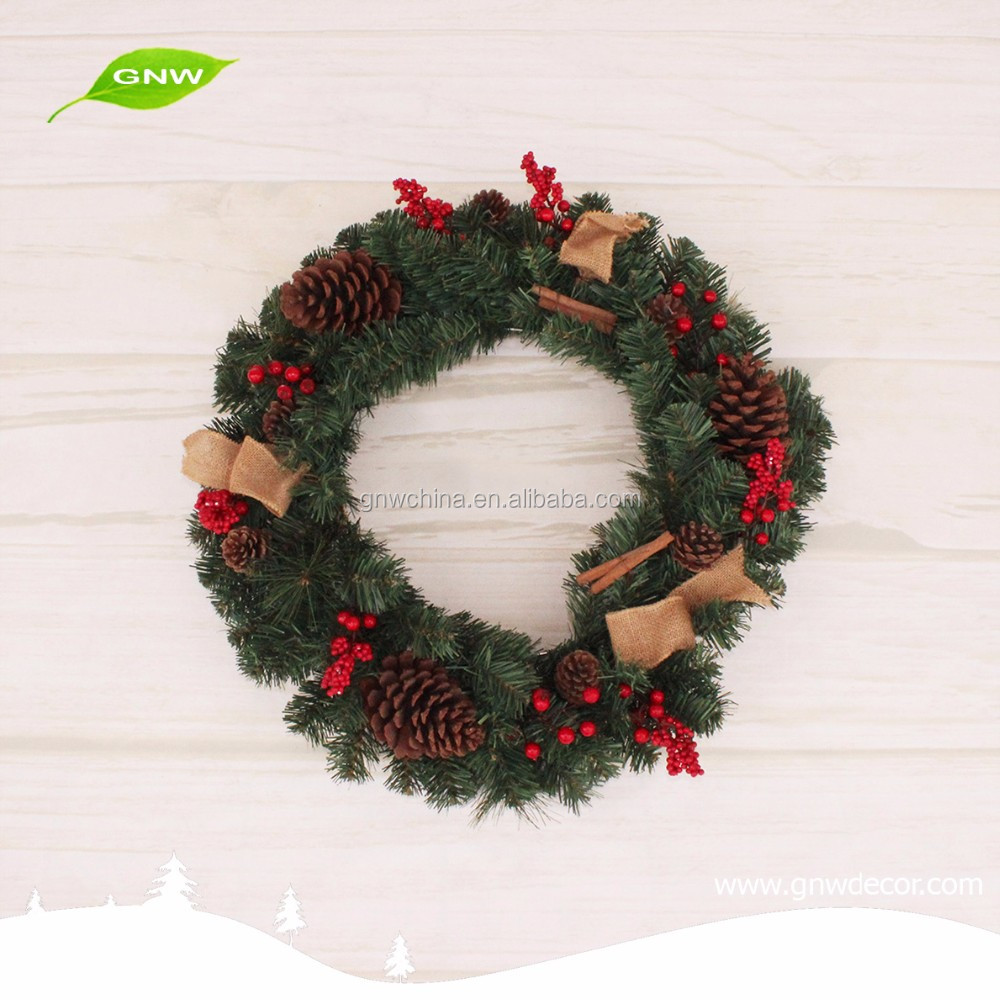 GNW CHWR-1605002 cheap indoor Christmas wreaths for home decoration