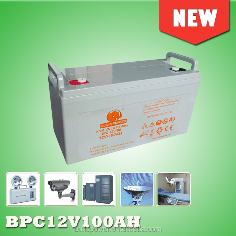anti-corrosion smf lead acid battery 12V 100ah agm dry batteries for ups