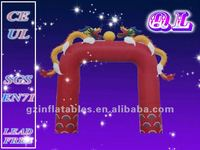 2016 {QiLing} cheap inflatable arch dragon
