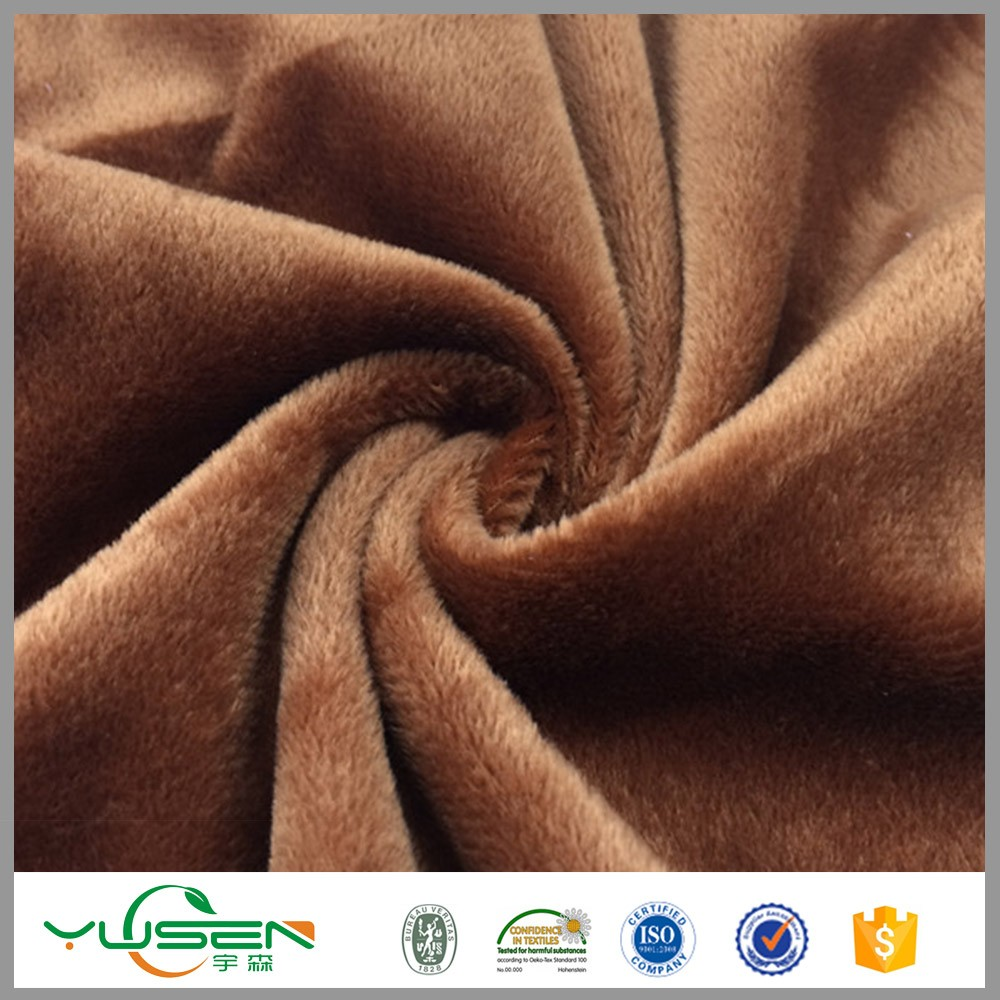 Textile make to order China supplier velboa fabric for toys